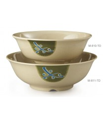 GET Enterprises M-810-TD Traditional Japanese Melamine Bowl, 24 oz. (1 Dozen)