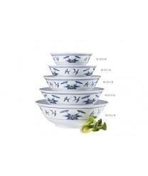 GET Enterprises M-813-B  Water Lily Melamine Bowl, 2.3 Qt, (1 Dozen)