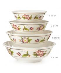 GET Enterprises M-813-TR Tea Rose Melamine Bowl, 74 oz.(1 Dozen)