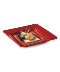 """GET Enterprises ML-12-RSP Red Sensation Square Plate, 12""""(1 Dozen)"""