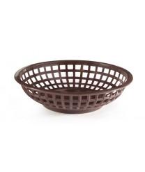 """GET Enterprises RB-820-BR Brown Round Plastic Bread & Bun Basket, 8""""(3 Dozen)"""