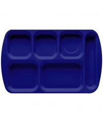 "GET Enterprises TR-151-NB Navy Blue Melamine Right Hand 6 Compartment Tray, 10""x 15-1/2""(1 Dozen)"