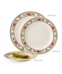 """GET Enterprises KT-415-CG Garden Dynasty Melamine Round Plate, 12""""(1 Dozen)"""
