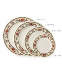 "GET Enterprises M-5080-CG Garden Dynasty Melamine Plate, 9-1/2""(1 Dozen)"