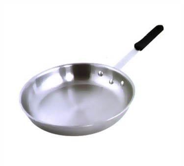 """Winco AFP-10A-H Gladiator Aluminum Fry Pan with Natural Finish and Red Silicone Sleeve 10"""""""