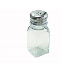 Winco G-109 Square Glass Shaker with Mushroom Top 2 oz. (1 Dozen)