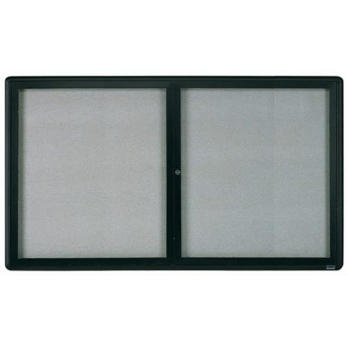 Aarco RAB3660BL Radius Design Enclosed Bulletin Board with Graphite Frame 36