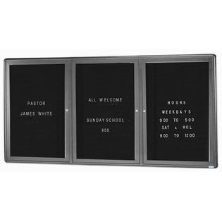 Aarco RAD3624BU Radius Design Enclosed Directory Board with Graphite Frame 36
