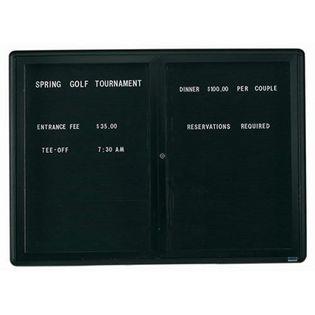 Aarco RAD3648BU Radius Design Enclosed Directory Board with Graphite Frame 36