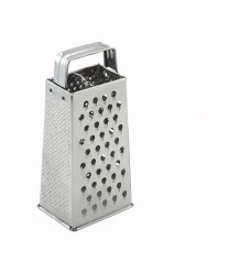 "Winco SQG-1 Tapered Box Grater with Handle 4"" x 3"" x 9"""