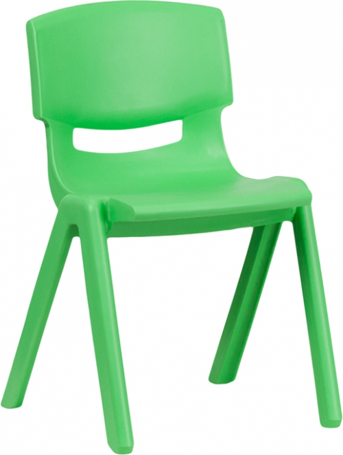 Flash Furniture Green Plastic Stackable School Chair with 13.25'' Seat Height [YU-YCX-004-GREEN-GG]