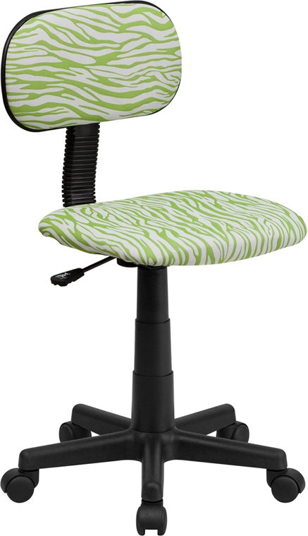 Flash Furniture Green and White Zebra Print Computer Chair [BT-Z-GN-GG]