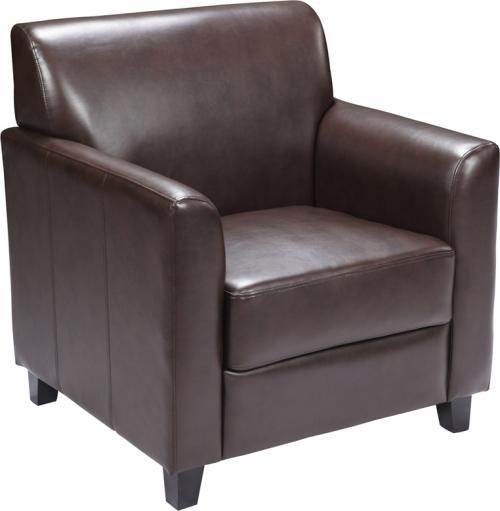 Flash Furniture HERCULES Diplomat Series Brown Leather Chair [BT-827-1-BN-GG]