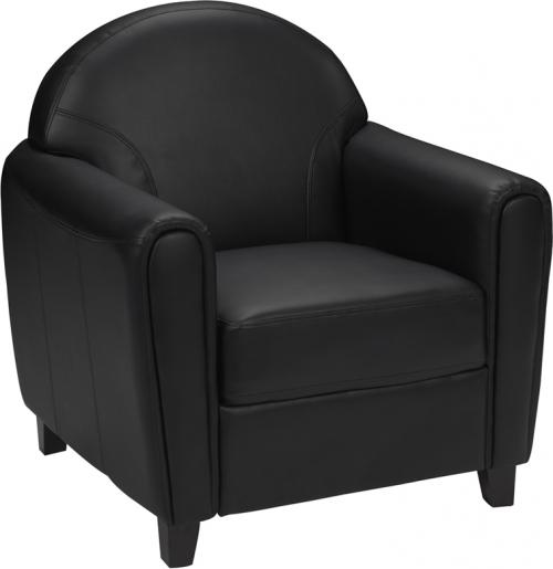 Flash Furniture HERCULES Envoy Series Black Leather Chair [BT-828-1-BK-GG]