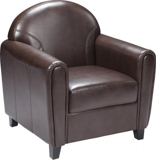 Flash Furniture HERCULES Envoy Series Brown Leather Chair [BT-828-1-BN-GG]