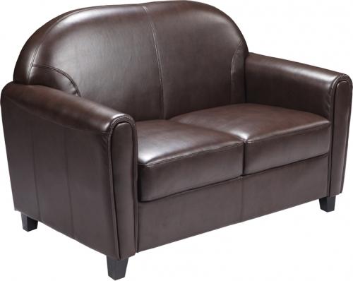 Flash Furniture HERCULES Envoy Series Brown Leather Love Seat [BT-828-2-BN-GG]