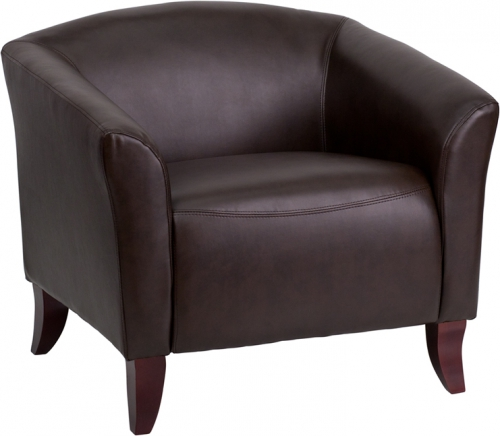 Flash Furniture HERCULES Imperial Series Brown Leather Chair [111-1-BN-GG]