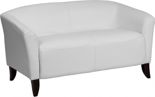 Flash Furniture HERCULES Imperial Series White Leather Love Seat [111-2-WH-GG]