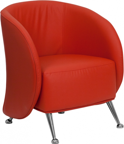 Flash Furniture HERCULES Jet Series Red Leather Reception Chair [ZB-JET-855-RED-GG]