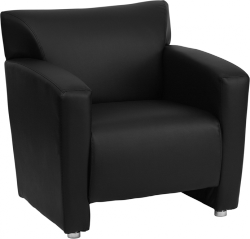Flash Furniture HERCULES Majesty Series Black Leather Chair [222-1-BK-GG]