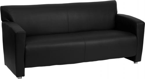 Flash Furniture HERCULES Majesty Series Black Leather Sofa [222-3-BK-GG]