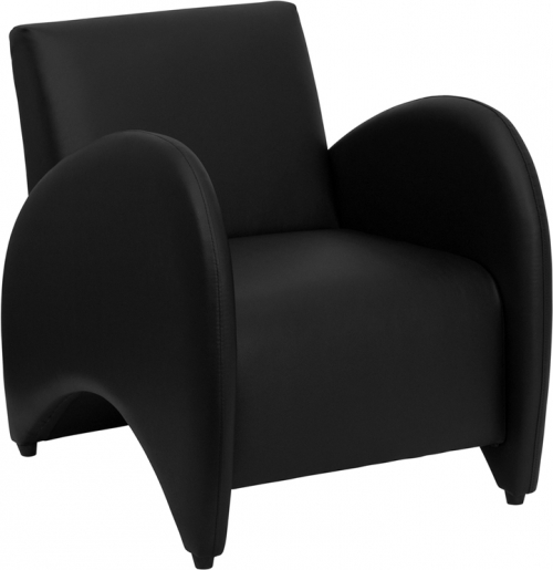 Flash Furniture HERCULES Patrician Series Black Leather Reception Chair [ZB-PATRICIAN-BLACK-GG]