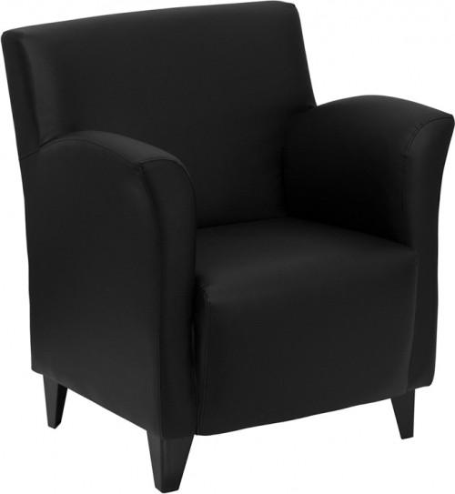Flash Furniture HERCULES Roman Series Black Leather Reception Chair [ZB-ROMAN-BLACK-GG]