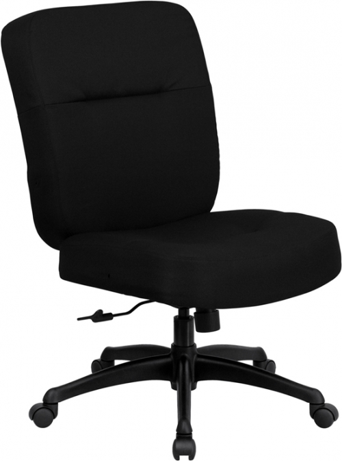 Flash Furniture HERCULES Series 400 lb. Capacity Big & Tall Black Fabric Office Chair with Arms and Extra WIDE Seat [WL-723ATG-BK-GG]