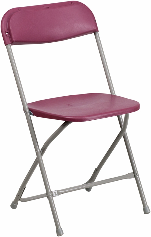 Flash Furniture HERCULES Series 440 lb. Capacity Premium Burgundy Plastic Folding Chair [BH-D0001-BG-GG]