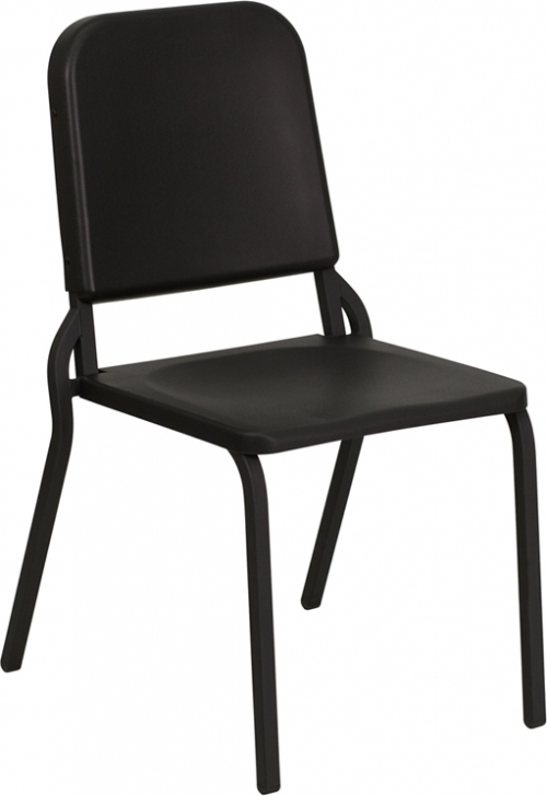 Flash Furniture HERCULES Series Black High Density Stackable Melody Band/Music Chair [HF-MUSIC-GG]