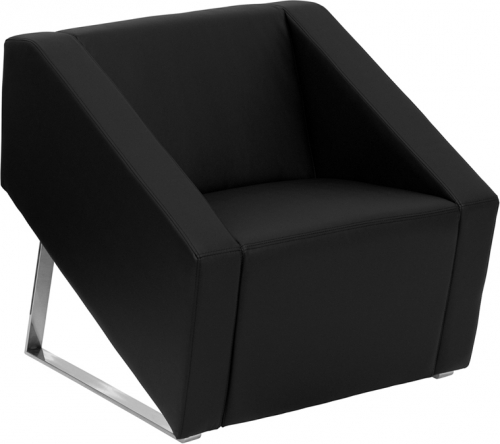 Flash Furniture HERCULES Smart Series Black Leather Reception Chair [ZB-SMART-BLACK-GG]