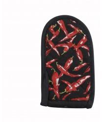 """Winco HDH-6C Handle Holder with Chili Pepper Design 3-1/2"""" x 6-1/2"""" (1 Dozen)"""