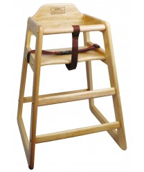 Winco CHH-101A Natural Wood Finish Stacking High Chair, Assembled