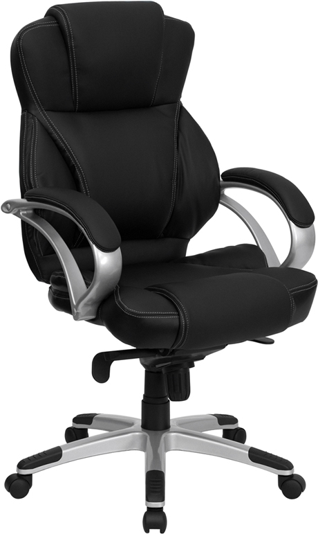 Flash Furniture High Back Black Leather Flash Furniture Contemporary Office Chair [H-9626L-2-GG]