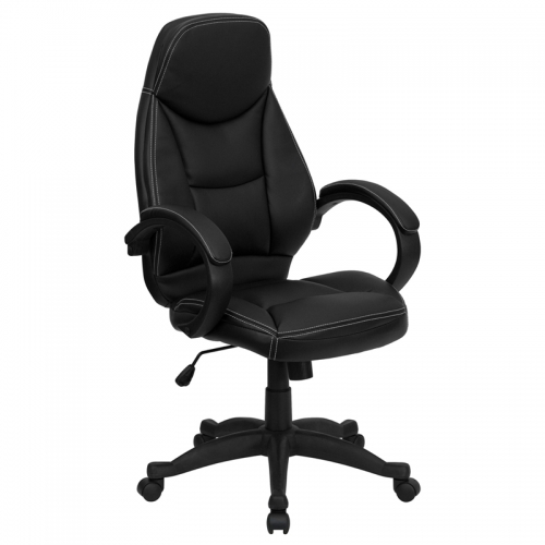 Flash Furniture High Back Black Leather Flash Furniture Contemporary Office Chair [H-HLC-0005-HIGH-1B-GG]