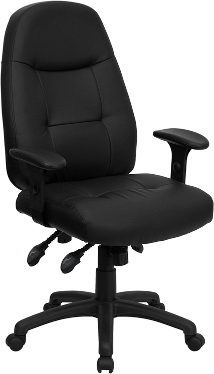 Flash Furniture High Back Black Leather Executive Office Chair [BT-2350-BK-GG]