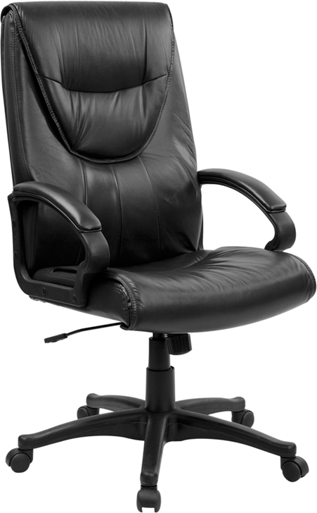 Flash Furniture High Back Black Leather Executive Swivel Office Chair [BT-238-BK-GG]