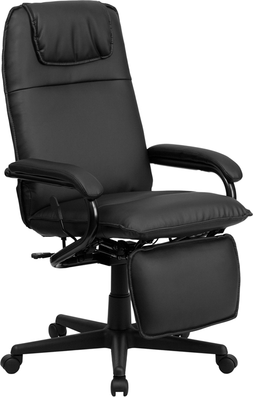 Flash Furniture High Back Black Leather Executive Reclining Office Chair [BT-70172-BK-GG]