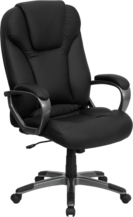 Flash Furniture High Back Black Leather Executive Office Chair [BT-9066-BK-GG]