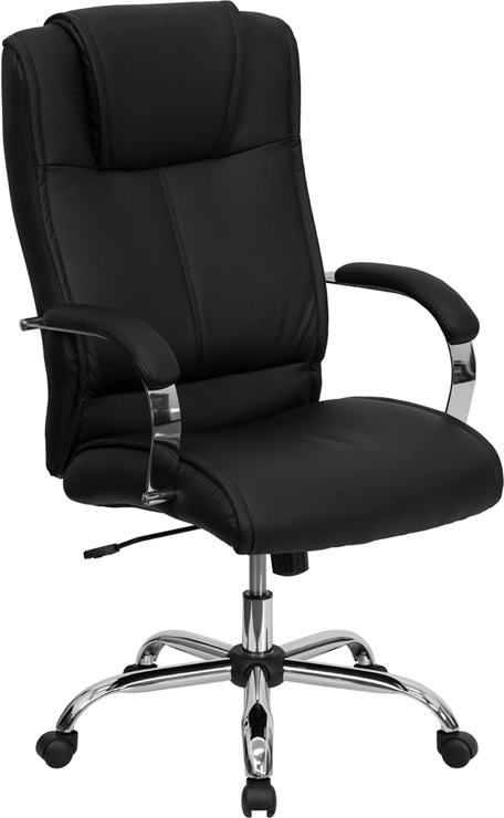 Flash Furniture High Back Black Leather Executive Office Chair [BT-9080-BK-GG]