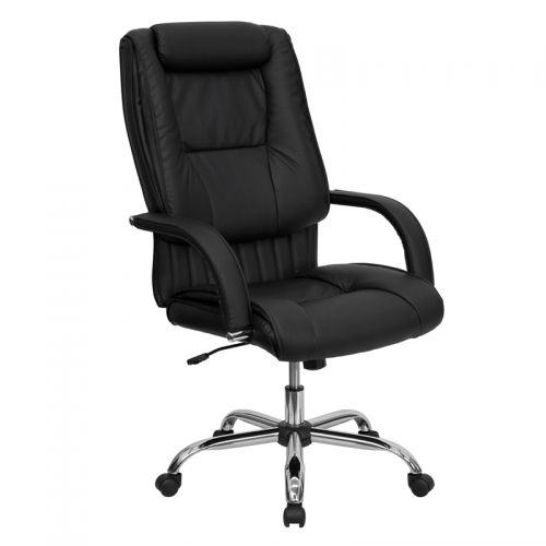 Flash Furniture High Back Black Leather Executive Office Chair [BT-9130-BK-GG]