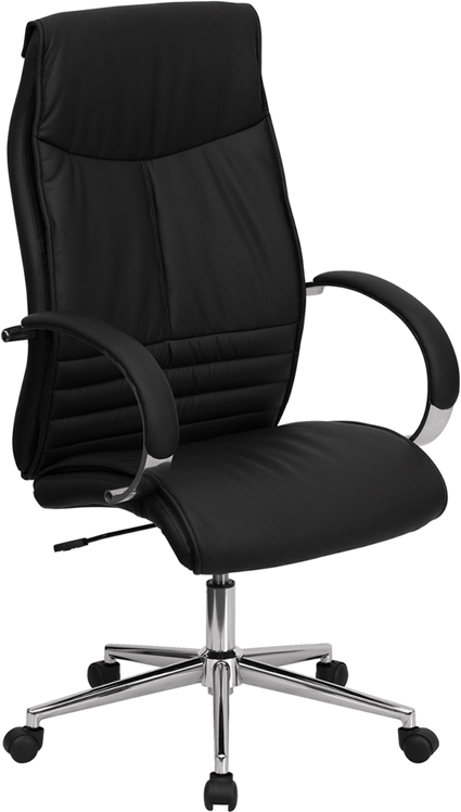 Flash Furniture High Back Black Leather Executive Office Chair [BT-9996-BK-GG]