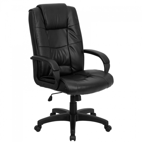Flash Furniture High Back Black Leather Executive Office Chair [GO-5301B-BK-LEA-GG]