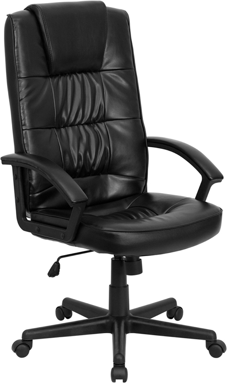Flash Furniture High Back Black Leather Executive Office Chair [GO-7102-GG]