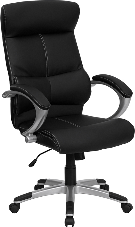 Flash Furniture High Back Black Leather Executive Office Chair [H-9637L-1C-HIGH-GG]