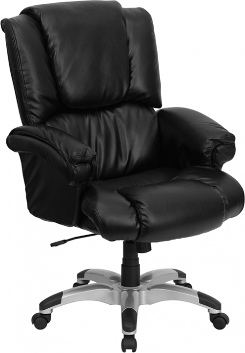 Flash Furniture High Back Black Leather OverStuffed Executive Office Chair [GO-958-BK-GG]