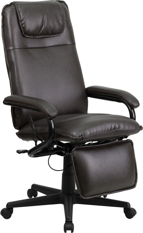 Flash Furniture High Back Brown Leather Executive Reclining Office Chair [BT-70172-BN-GG]