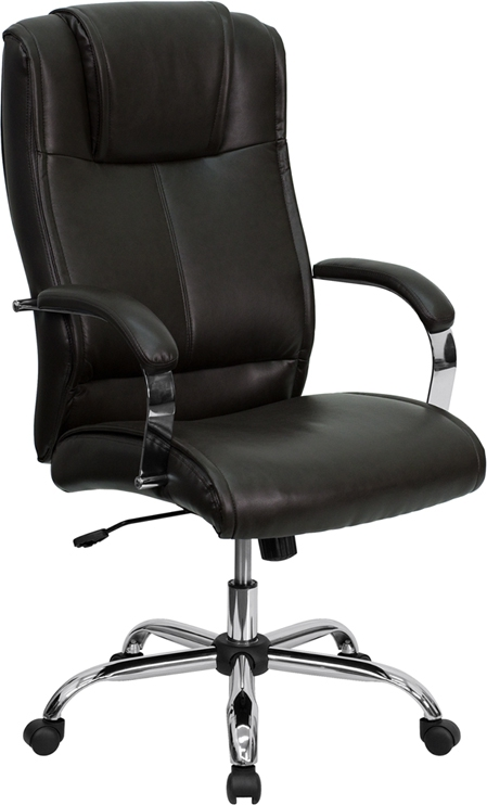 Flash Furniture High Back Brown Leather Executive Office Chair Bt