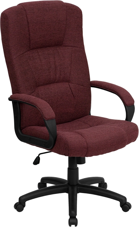Flash Furniture High Back Burgundy Fabric Executive Office Chair [BT-9022-BY-GG]