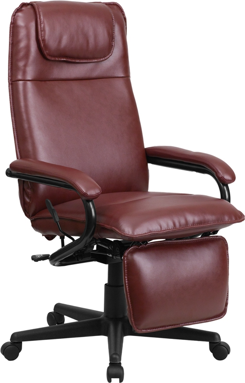 Flash Furniture High Back Flash Furniture Burgundy Leather Executive Reclining Office Chair [BT-70172-BG-GG]
